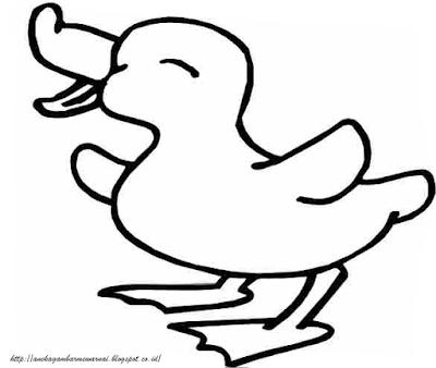 Gambar Mewarnai Anak Bebek Untuk Anak PAUD dan TK