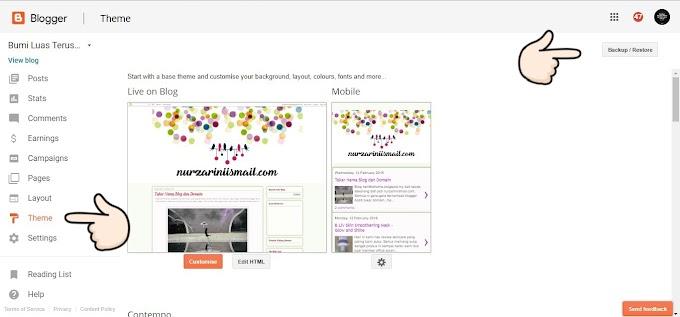 Cara Senang Simpan Back Up Kod HTML Blog Tanpa Copy Paste