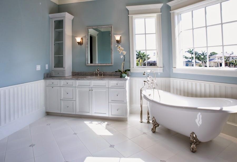 Baño limpio de moho