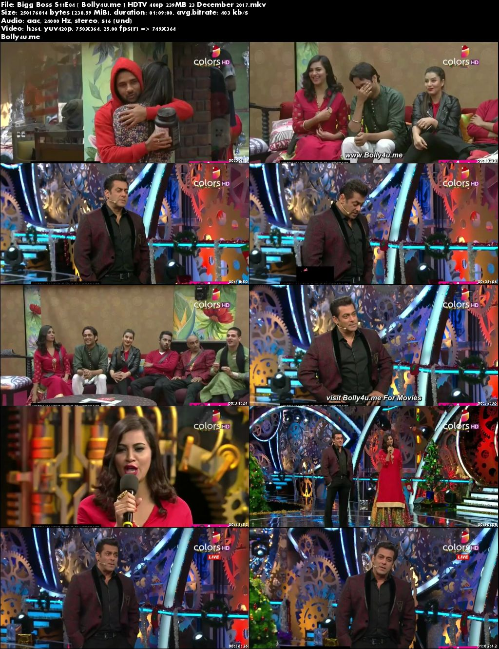 Bigg Boss S11E84 HDTV 480p 200MB 23 Dec 2017 Download