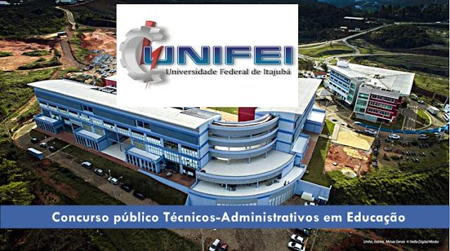 Unifei Itajubá abre Concurso para vagas de Técnicos-Administrativos