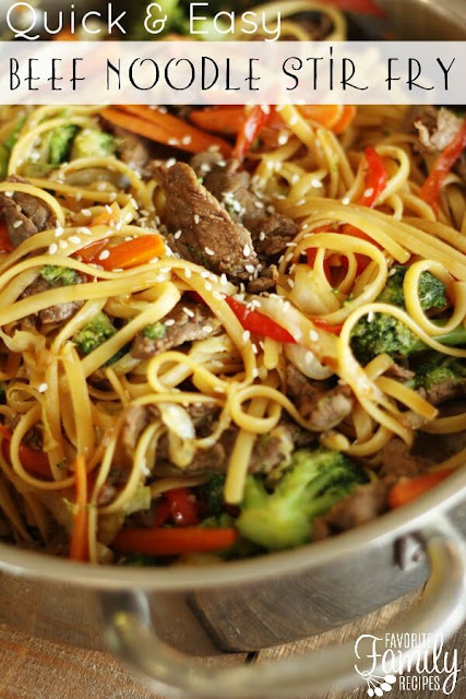 Quick and Easy Beef Noodle Stir Fry recipe