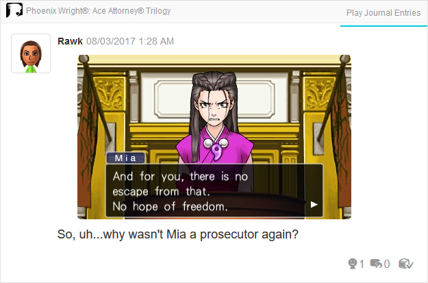 Phoenix Wright Ace Attorney Trials and Tribulations Mia Fey no hope of freedom Dahlia Hawthorne