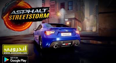 لعبة Asphalt Street Storm Racing كاملة للاندرويد