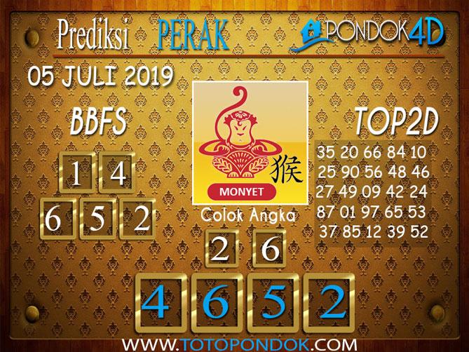 Prediksi Togel PERAK PONDOK4D 05 JULI  2019