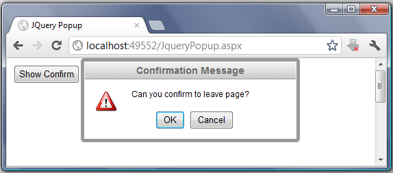 Free ASP NET Source Code & Tutorial: Simple jQuery Confirm and Alert
