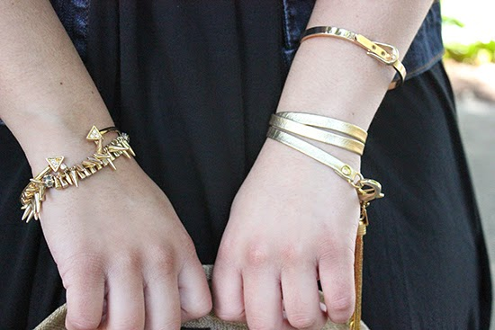 LE TOTE and E. Kammeyer Accessories Gold Arm Party