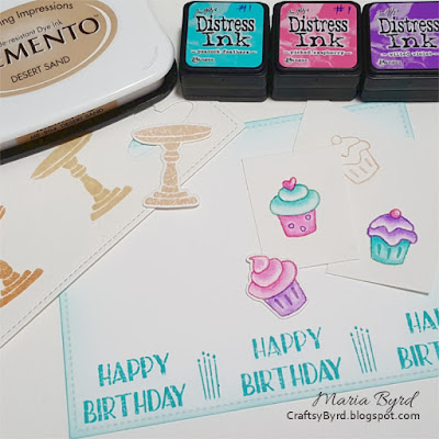 Simon Says Stamp Birthday Cupcake Card by Maria Byrd | CraftsyByrd.blogspot.com