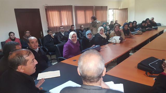 السيد المدير الإقليمي يشرف على عملية توزيع التكليفات على الأساتذة المتعاقدين بمديرية الفقيه بن صالح