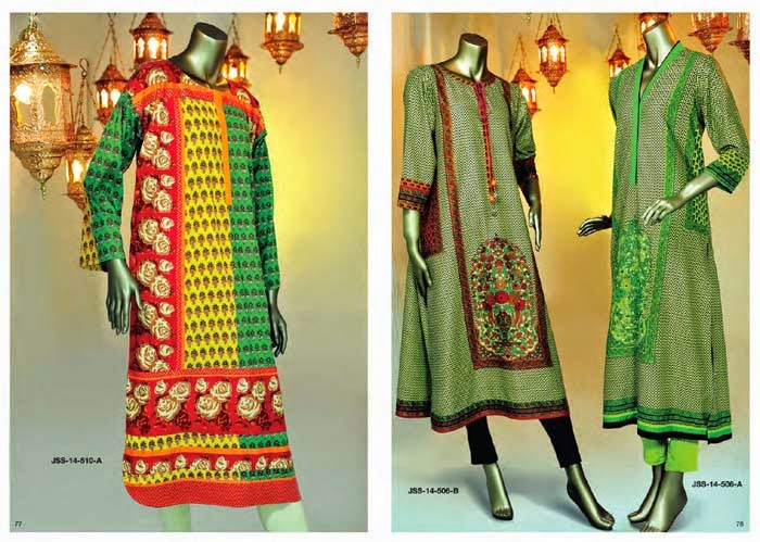New Kurti Designs For This Eid By Junaid Jamshed From 2014 Fashion World Hunt