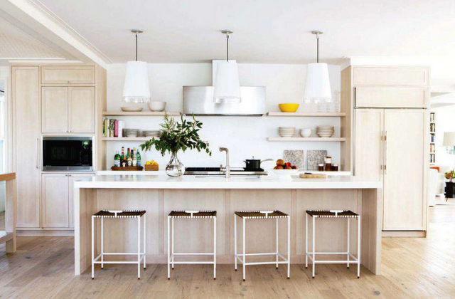 Contemporary Kitchen With Open Shelves 16 Image Wall Shelves