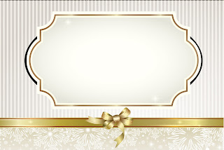 Gold and Grey Free Printable Invitations, Labels or Cards.
