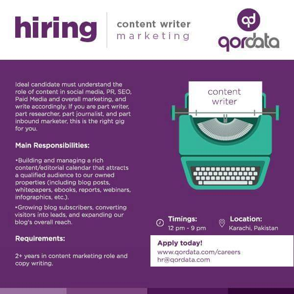 latest jobs and vacancies seo content writer jobs in karachi