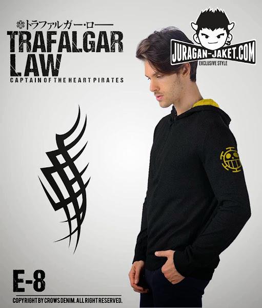 jas exclusive jaket anime one piece  trafalgar law e 8 (samping)
