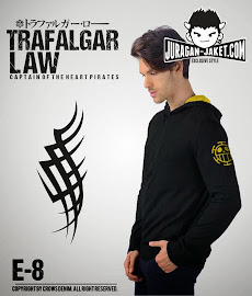 jas exclusive jaket anime one piece  trafalgar law e 8 (samping)