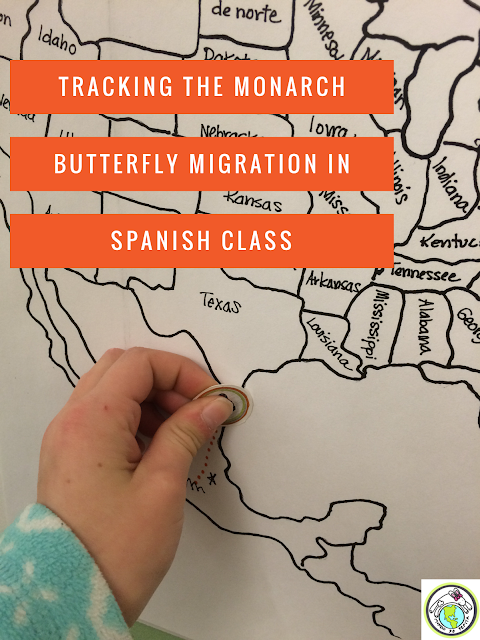 Tracking the monarch butterfly migration in Spanish class