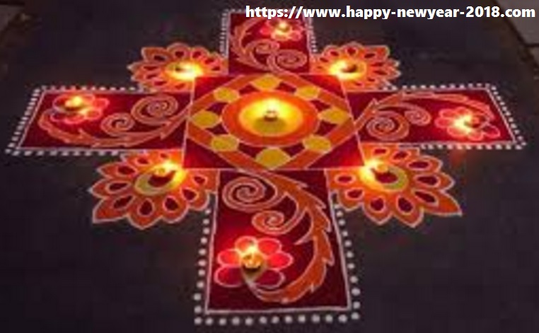 Perfect Happy New Year 2018 Rangoli Design Images   Happy New Year 2018 Images Happ.