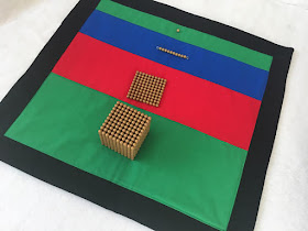 Resource for introduction of the Montessori gold bead material.