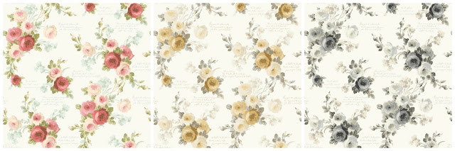Farmhouse Style-Wallpaper-Heirloom Rose-Magnolia Home Wallpaper-York Wallcoverings