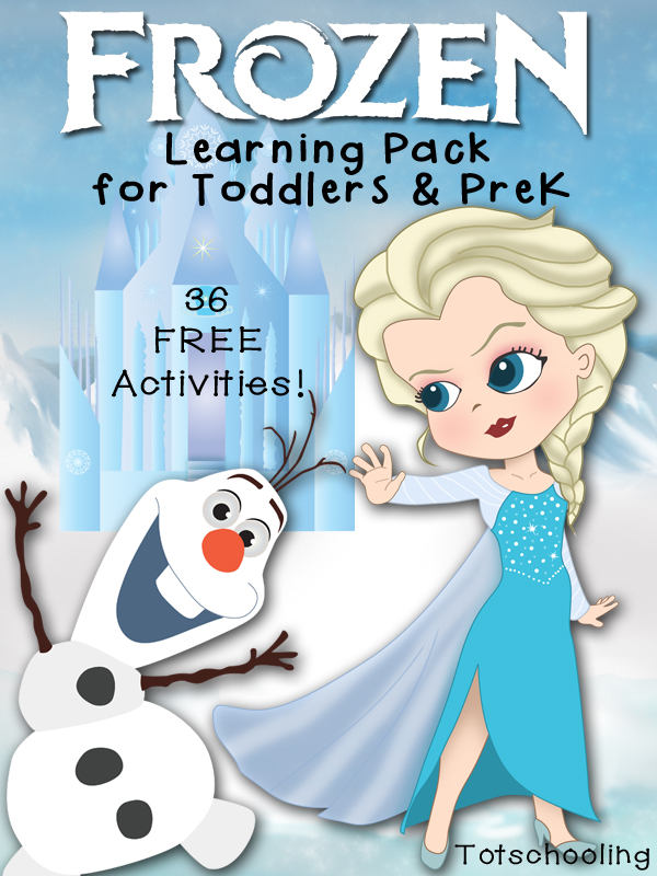 Free FROZEN Learning Pack for Toddlers  PreK Totschooling
