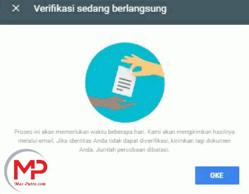 Cara Verifikasi Identitas Akun Google AdSense Dengan KTP