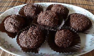 trufas caseras de chocolate