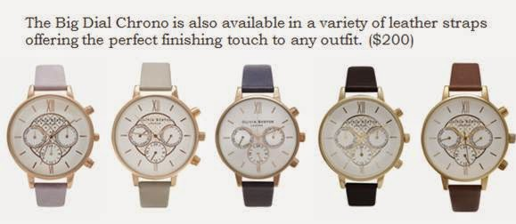 Olivia Burton Big Dial Chrono watches