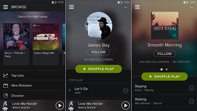 Începând de astăzi Spotify este disponibil și în România