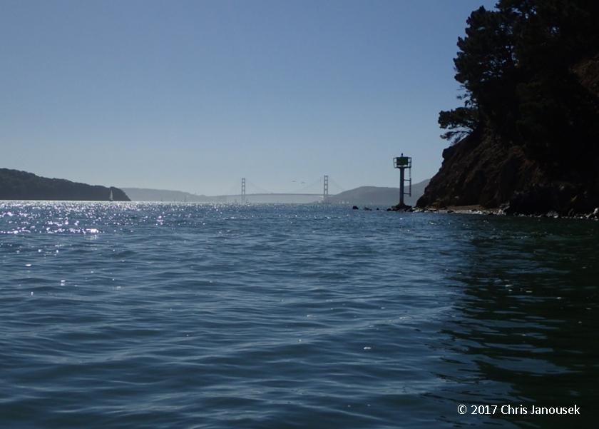 Looking Across Raccoon Strait To The Golden Gate Bridge Angel Island Is Left And Tiburon Peninsula Right