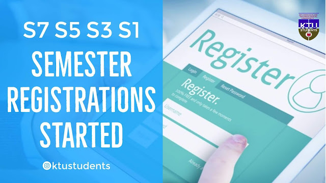 Ktu s7 s5 s3 s1 course registration
