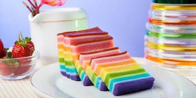 cara membuat kue lapis rainbow sederhana