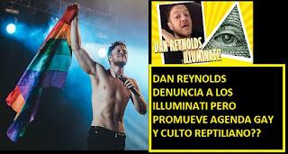 Dan Reynolds expone a los #illuminati?? ecuménico que promueve agenga gay #LGTBi y su banda imagine dragons rinde culto reptiliano #Katecon2006