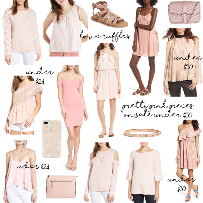 blush clothing and accessories on sale under $50