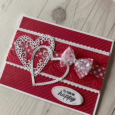 Also using the Be Mine Stitched Framelits Dies