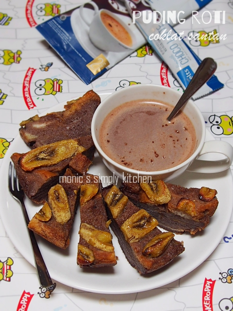 resep puding roti coklat santan