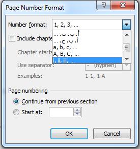 cara membuat nomor halaman berbeda letak