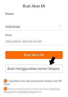 2 Cara membuat akun mi baru di smartphone dan di websitw