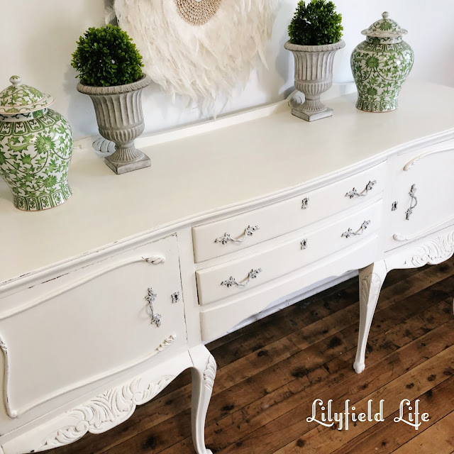white painted sideboard console furniture by Lilyfield life
