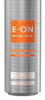 A stock image of E-on Almond Rush Energy Drink, from Big Lots