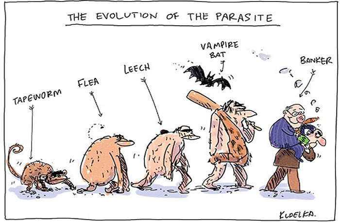 #5. The Evolution of the Parasite - 15 Funny Cartoons To Prove Evolution Has A Twisted Sense Of Humor.