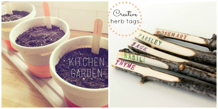 Creative herb tags