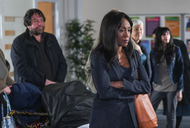 EastEnders Denise is forced to visit a food bank
