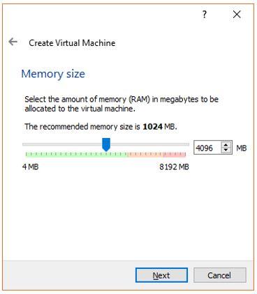 Set Virtual Machine Memory Size for Ubuntu
