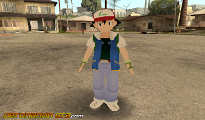GTA SA - Skin Ash Ketchum do Pokémon