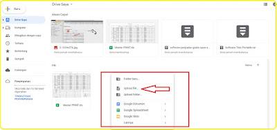 cara menyimpan file foto dan video di google drive
