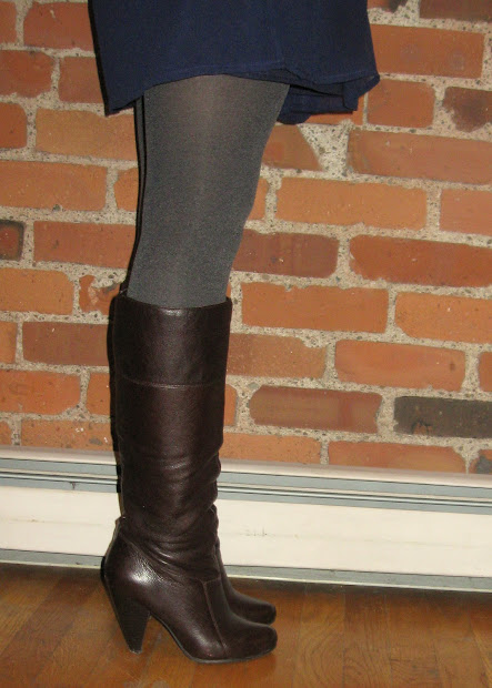 Opaque Tights Dress Boots
