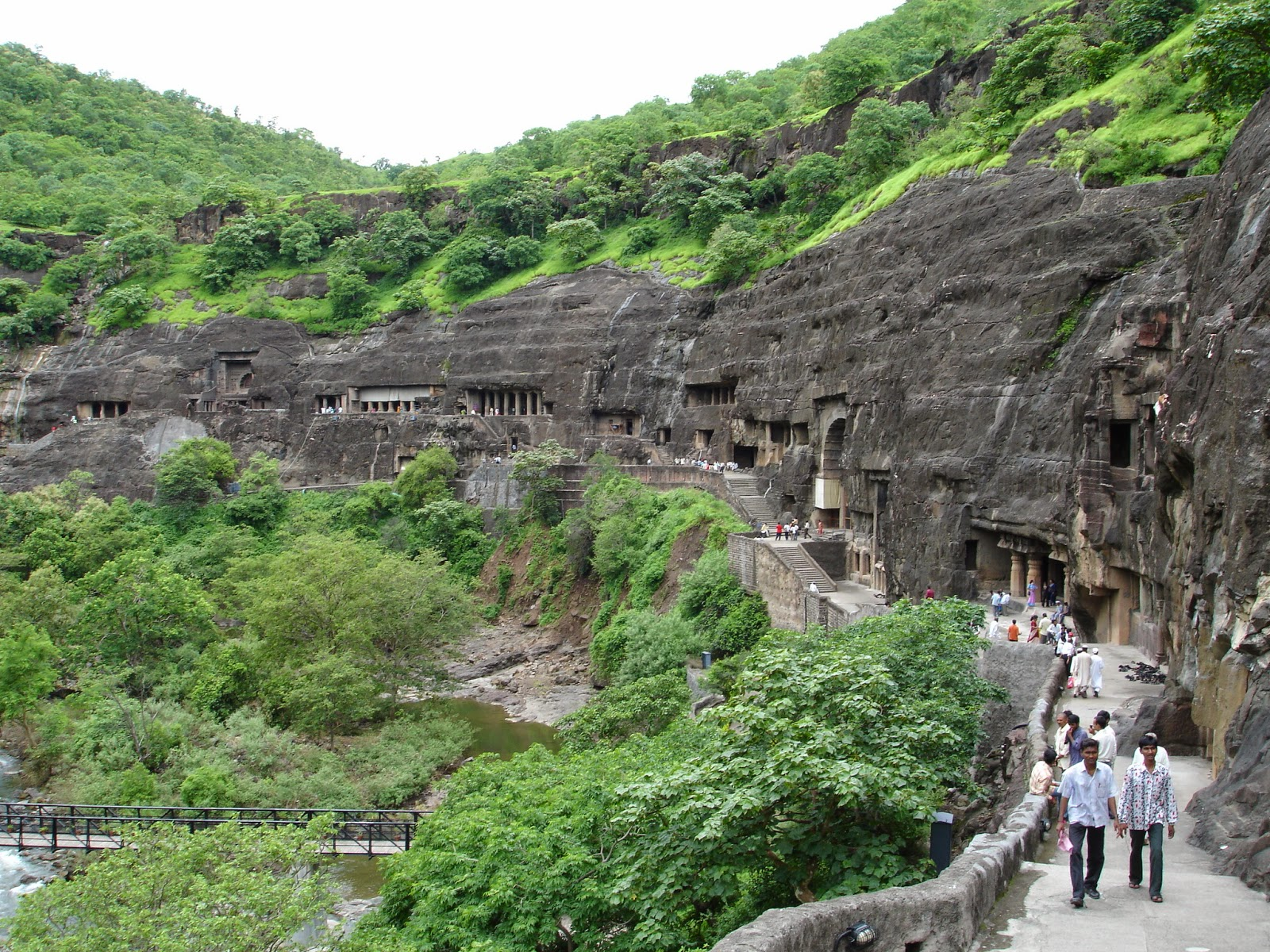 Ajanta caves - Ancient Buddhist Monestry - Maharashtra India