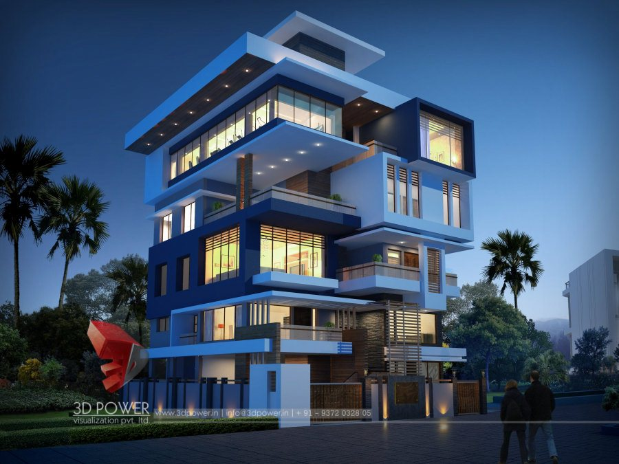 Ultra Modern Home Designs Home Designs 3d Exterior Home Design Night View
