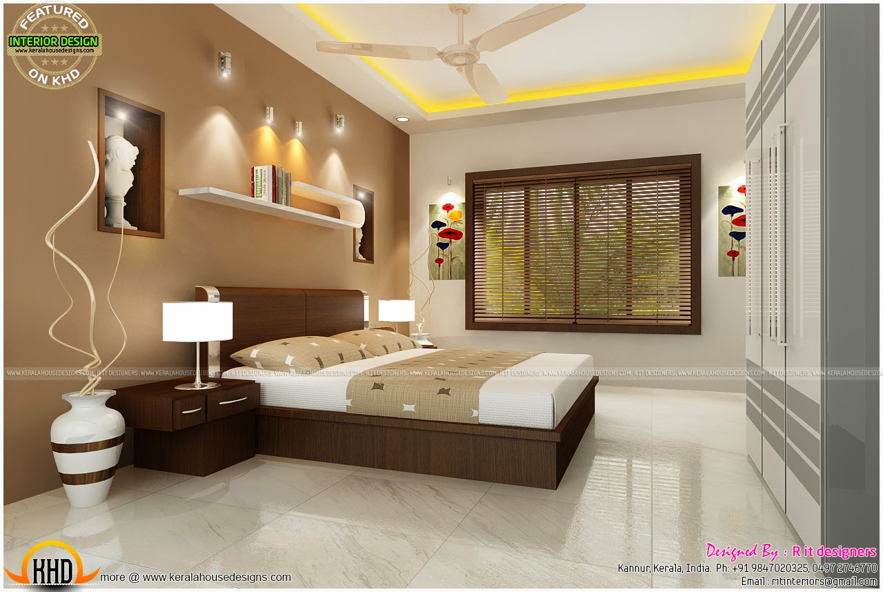Bedroom interior design with cost kerala home design and for Three room set design