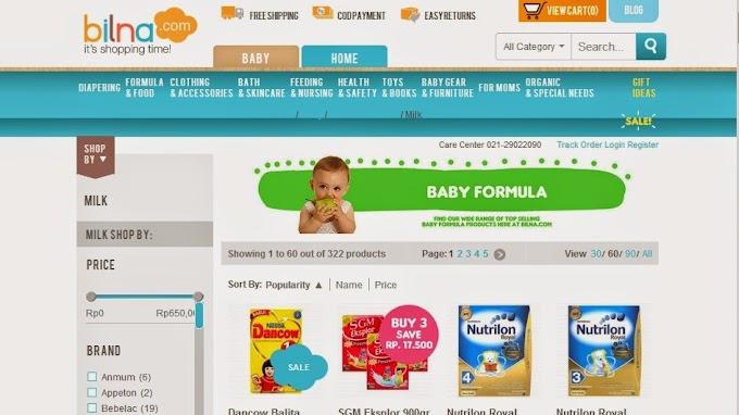 Bilna Cara Mudah Belanja Kebutuhan Anak dan Bayi